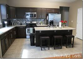 kitchens with dark brown cabinets. Stylish Chocolate Brown Painted Kitchen Cabinets Dark Quicua Kitchens With S