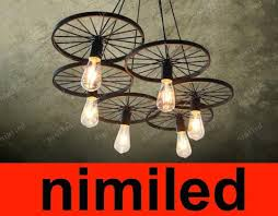 cheap vintage lighting. Nimi533 Loft Retro Iron Light Bicycle Wheels Pendant Lights Vintage E27 St64 Edison Bulb Droplight Chandelier Glass Cheap Lighting Y