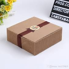 corrugated kraft paper box jewel gift soap box paper packaging gift box wedding handmade food