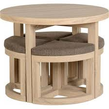 dining table with chairs that fit under. gambon stowaway dining set in sonoma oak finish table with chairs that fit under g