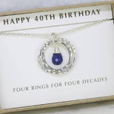 40th birthday gift sapphire necklace september birthstone necklace 40th birthday necklace lilia