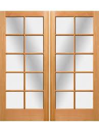 exterior double doors. 10 Lite Fir Exterior Double Door Doors