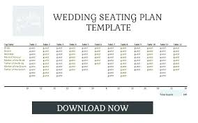 Wedding Table Template Wedding Table Seating Chart Template Word For