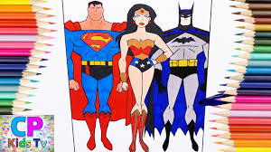 Justice League Coloring Pages For Kids 1 How To Color Justice