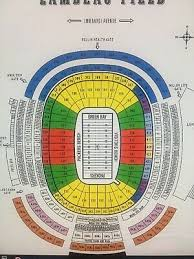 Detroit Lions Seating Chart With Seat Numbers 4 Packers Vs Lions Tickets At Lambeau Field 460 00 Picclick