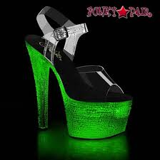 Light Up Pleaser Shoes Light Up Stripper Shoes W Crystal Stones Flashdance 708xtal By Pleaser