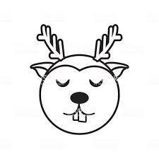 顔トナカイ動物の概要 お祝いのベクターアート素材や画像を多数ご用意