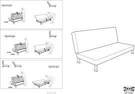 Download IKEA EXARBY SOFA BED FRAME Assembly Instruction for Free
