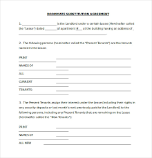 Roommate Agreement Contracts Roommate Agreement Template 12 Free Word Pdf Document