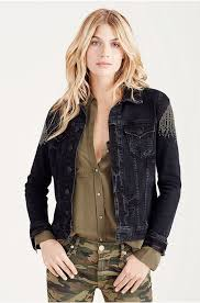 true religion womens clothing special offer true religion trucker jacket womens in blacktr18699 true religion shirts able
