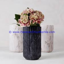office flower pots. Marble Flowers Vases Jet Black Planters Pot Home Office Decor-24 Flower Pots