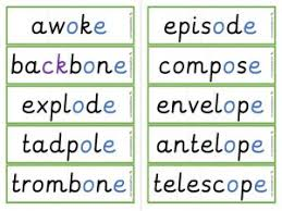 To supplement phonics instruction, you may find the sight words dvds from rock 'n learn helpful. Oe Split Digraph Worksheets And Games Galactic Phonics