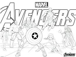 Avengers Infinity War Coloring Pages Captain Thor Omark