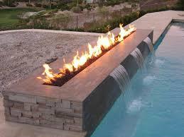 backyard fire pit water feature combo