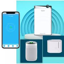Máy lọc không khí thông minh wifi có khay nước bù ẩm lọc không khí trong  lành với diện tích lên đến 50m2 bảo hành 12 tháng