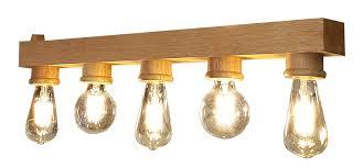 Solid Wood Hanging Light With 5 Bulb Holder Klite Concept
