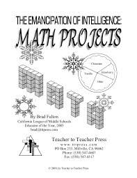 Creative Titles For Math Projects The Emancipation Of Intelligence Math Projects