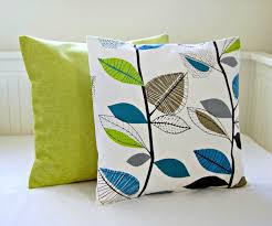 Lime Green Decorative Accessories Decorative pillows teal blue lime green leaves accent lime pair of 13