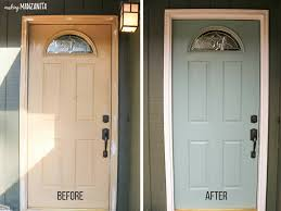 before and after front door paint with behr in the moment t18 15 color of