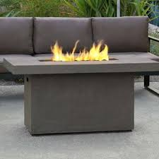 patio furniture with fire pit.  Patio Ventura Concrete Propane Fire Pit Table Intended Patio Furniture With