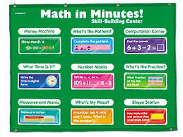Extra Wide Pocket Chart Math In Minutes Skill Building Center Grade 2 At