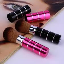 new design 1pcs mini soft makeup brush retractable pro foundation cosmetic blusher face powder brushes beauty