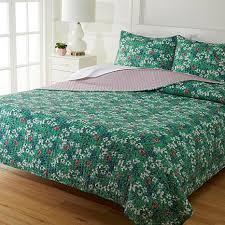 cotton stitched 3 pc quilt set