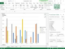Pivot Bar Chart Creating Pivot Charts In Excel 2019 Dummies