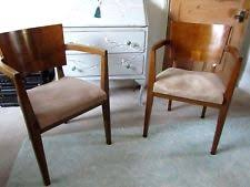 vine art deco pair of carver dining chairs