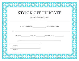 download stock certificate template share certificate template word free ownership ms stock