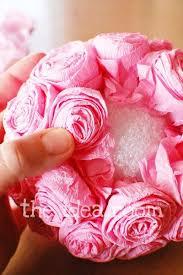 Diy Flower Balls Tissue Paper Tissue Rosette Kissing Balls Paper Flower Ball Kissing