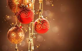 Red And Gold Christmas Ornaments And Stars Wallpaper 39158 ...
