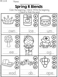 A collection of english esl worksheets for home learning, online practice, distance learning and english classes to teach about blends, blends. Spring Literacy Worksheets 1st Grade Distance Learning Blends Worksheets Consonant Blends Worksheets First Grade Math Worksheets