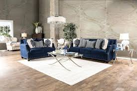 navy couch blue living room ideas sectional sofa with white piping