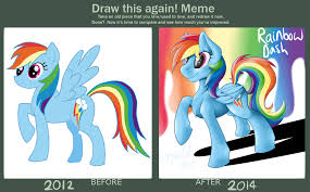 Draw This Again! Meme - My First MLP Fanart by TheImmolatedPoet on ... via Relatably.com