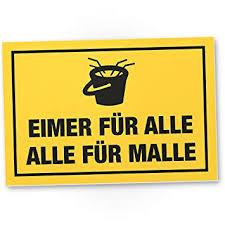 Dankedir Alle Malle Kunststoff Schild Mit Spruch Eimersaufen