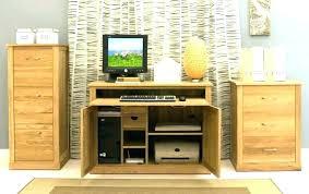 hidden office desk. Hidden Computer Desk Furniture Hideaway Office Home O
