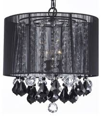 drum shade chandelier with crystals and unique houzz