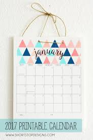 colorful graphic 2017 calendar free printable