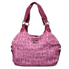 Coach Fashion Poppy Signature Medium Pink Shoulder Bags ENL