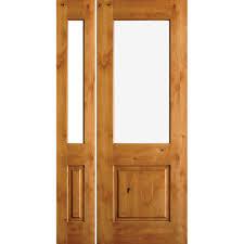 unfinished front doorKrosswood Doors 49 in x 81625 in Rustic Knotty Alder Half Lite
