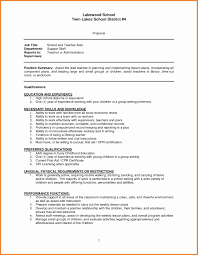 Resume Template For Teaching Position Free Downloads Teacher Resume