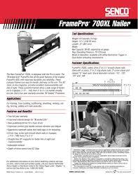 senco framepro 700xl specification