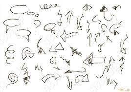 矢印草稿ダイアログかわいいpng素材psdaiepsデザイン素材