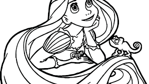 Rapunzel Coloring Pages Easy Coloring Pages Tangled Coloring Page
