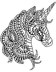 Unicorn Head Zentangle Coloring Page Free Printable Coloring Pages