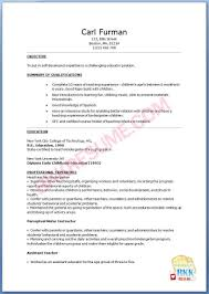 Perfect Free Preschool Teachersume Samples With Additional Sample Pe