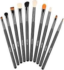 duorime silky 10pcs eyeshadow makeup brush set essential eye makeup brushes kit