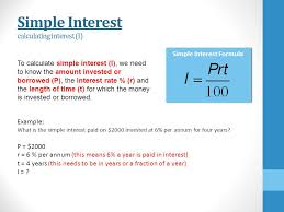 Loan Interest Calculator Interesting Simple Interest 44 Mathematics Simple Interest You Need To Be Able