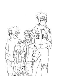 Coloring Sasuke Naruto Sakura And Kakashi Coloring Page Naru With